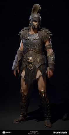 ArtStation - Assassin's Creed Odyssey - Kronos Armor, Bruno Morin Assassins Creed Art, Assassins Creed Odyssey, Ancient Armor, Roman Warriors, Greek Warrior, Armadura Medieval, Templer, Roman Soldiers, Sword And Sorcery