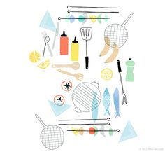 Illustration - Amy van Luijk, food, illustration, design, cooking, drawing, doodle