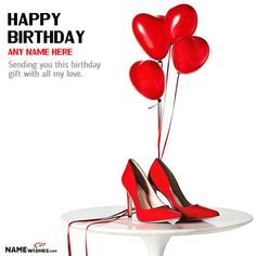 Personalized Birthday Gift for Girls - Pair of Heels. Girls love heels, so use this image as personalized birthday gift and send to birthday girl. You can write name on this heel gift image with birthday.