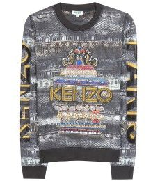 Kenzo - Embroidered and embellished cotton sweater -