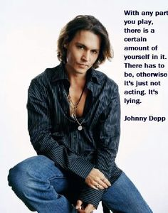 Johnny Depp quotes. Acting
