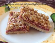 Strawberry Squares Gluten-Free (only 141 calories per square) - It's my personal goal to make weight-loss and weight maintenance deliciously easy for you and me. May your journey be scrumptious and the company you keep inspiring and supportive.