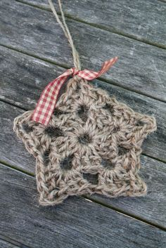 Crocheted Jute Star.  Little Emma English Home
