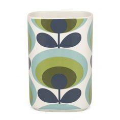 Orla Kiely 70s Oval Flower Green Utensil Pot Holder