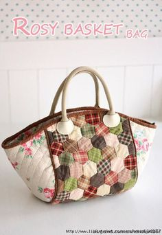 Rosy Basket Bag Pattern no instructions but nice idea to try making for a grocery shopping bag