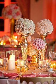 pink peach and coral wedding