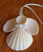 Sea shell angel - Now I know what to do with some of the shells I collected this summer! LOL