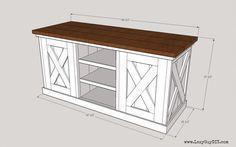 Lazy Guy DIY - Leonard Media Console Do It Yourself DIY Media Console, Build a TV Shelf