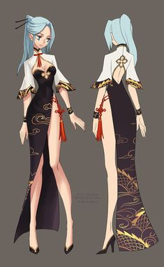 My entries to the Blade & Soul chinese server Server's second costume design contest.=D costumes designed by me,Ziyoling Female Character Design, Character Design Inspiration, Character Art, Warrior Outfit, Warrior Girl, Anime Art Girl, Manga Girl, Girls Characters, Female Characters
