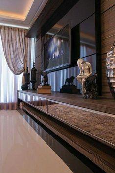 Ideas Home Theater Planejado Sala Grande House Design, Room Design, Sala, Home, Bedroom Design, Living Room Decor, House Interior, Interior Design, Living Room Tv