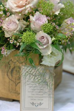 Vintage crate wedding decor vintage  wedding flowers soft blush roses and vintage style blooms perfect for nude colour weddings and natural wedding ideas rustic charm