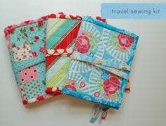 travel sewing kit tutorial   lots of pink here!