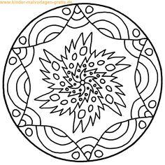 Malvorlage Mandala Vorlage zum anmalen