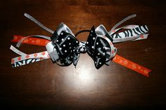 "cute ""pony o"" style hair bow"