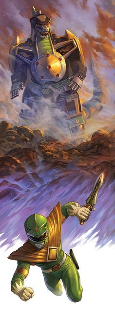Green Ranger & Dragonzord by Nick Robles