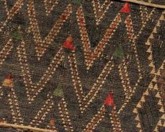 Taniko pattern, huaki cloak with three taniko borders; courtesy of National Gallery or Australia, Canberra