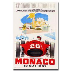 'Monaco 1957 II' Vintage Advertisement on Wrapped Canvas