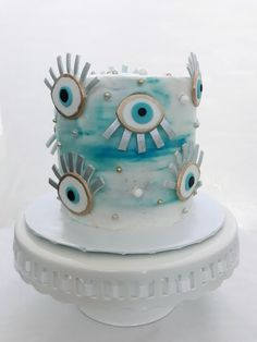 Cupcakes, Cupcake Cakes, Dinner Party Decorations, Turkish Eye, Craft Party, Aesthetic Food, Cakes And More, Let Them Eat Cake, Evil Eye