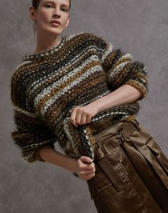 Knitting Paterns, Knitting Designs, Knit Patterns, Hand Knitting, Brunello Cucinelli, Knit Fashion, Crochet Clothes, Knit Crochet, Sweaters For Women