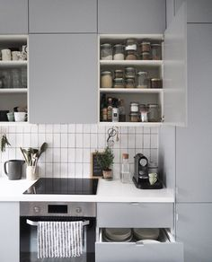 A few clever storage solutions and simple space-saving tricks can help you use your kitchen more efficiently, and more importantly, savour and enjoy cooking without having to worry where things are - kitchen storage solutions - small space kitchens - kitchen cupboard organisation - #ad with IKEA