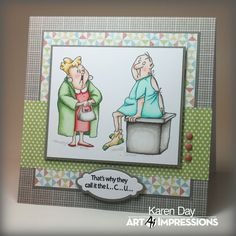 Karen Day for Art Impressions using new sets available at Michaels