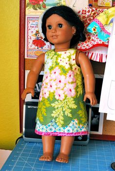 My nieces are getting American Girl dolls - this set of four dress patterns may come in handy.