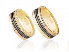 Aliança Infinity Love Triple Bvlgari - Aliança ouro amarelo e rosa monte cristo