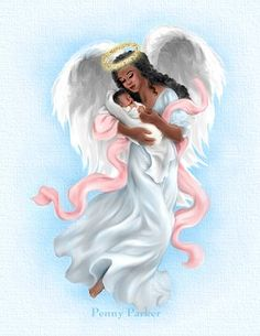 Penny Parker - Page 7 Angel Pictures, Art Pictures, Penny Parker, Entertaining Angels, Angel Wallpaper, Angels In Heaven, Heavenly Angels, Black Angels, Black Artwork