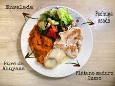 #lunes  lo que hay aquí ... el puré de Ahuyama sería algo que podría perfectamente comer todossssss los días 😅🤩 Chicken, Meat, Instagram, Food, Salads, Mondays, Healthy Recipes, Beef, Meals