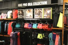 Nike Run women's Bra Bar sportswear retail display frame sportswear display.