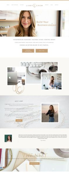 Branding and web design for a solo entrepreneur and small business perfect for -. Website Design Layout, Web Design Tips, Website Design Inspiration, Blog Design, Website Designs, Ux Design, Design Trends, Graphic Design, Website Ideas
