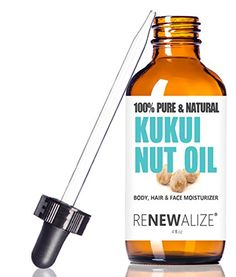 Kukui Nut Oil by Renewalize in LARGE 4 OZ DARK GLASS BOTTLE with Glass Eye Dropper  Highest Quality 100 Pure  Cold Pressed Oil  A Fantastic Light Massage Oil >>> Be sure to check out this awesome product.