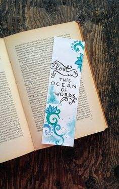 paper bookmarks Handmade watercolor bookmark with calligraphy quote , shiny bookmark with glitter Bookmarks Quotes, Paper Bookmarks, Watercolor Bookmarks, Bookmarks Kids, Creative Bookmarks, Handmade Bookmarks, Bibel Journal, Bookmark Craft, Book Markers