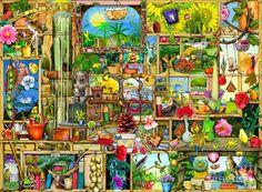 Garden Digital Art - The Garden Cupboard by Colin Thompson