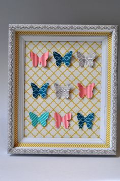 Washi Tape Specimen Art Tutorial - Use Washi Tape and Cardstock to make a chic wall art!