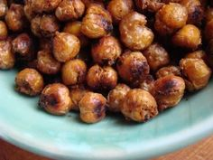 Roasted chickpeas....This was a crazy healthy fun late night snack. Next time I'll use considerably less oil!