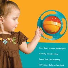 Non Spill Feeding Toddler Gyro Bowl 360