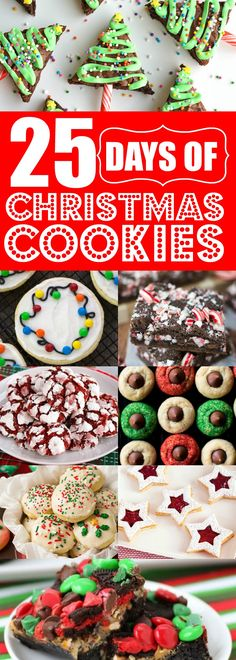 These 25 Christmas cookies are THE BEST!! I'm so happy I found these AMAZING Christmas treats! Now I have some great holiday cookies to bring to my next cookie exchange!! Definitely pinning!!
