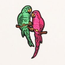 EMBROIDERY PATCH PARROTS