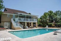 Tybee Estates gives your family the perfect opportunity to enjoy some quality outdoor time by this private pool! | Oceanfront Cottage Rentals, LLC.
