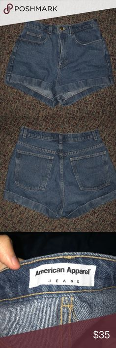American Apparel High Waisted Shorts Worn but in very good condition (medium wash) American Apparel Shorts Jean Shorts