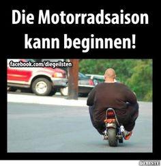 Die Motorradsaison kann beginnen! | Lustige Bilder, Sprüche, Witze, echt lustig