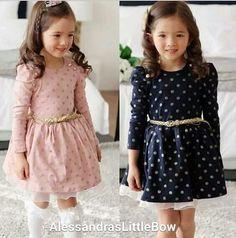 Goldie dots dress