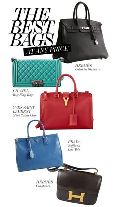 THE BEST OF THE BEST BAGS • Hermès  Birkin  35 http://shop-hers.com/products/16070 • Chanel Boy Flap Bag http://shop-hers.com/products/16639 • YSL Mini Cabas Chyc http://shop-hers.com/products/16309 • Prada Saffiano Lux Tote http://shop-hers.com/products/16444 • Hermès Constance http://shop-hers.com/products/13949