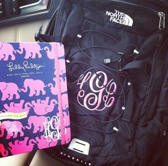 I need the monogrammed backpack to match my agenda!