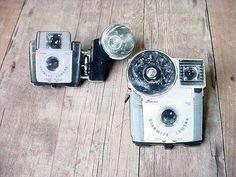 Brooch Set  Brownie Camera Image  Vintage Style by MySelvagedLife,