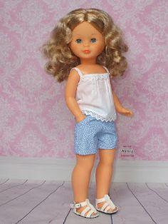 Pram Toys, Nancy Doll, Little Darlings, Doll Clothes, Knitting Patterns, Flower Girl Dresses, Dolls, Summer Dresses, Wedding Dresses