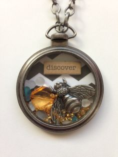 The Bee's Knees - Custom locket containing floating trinkets by The Blissful Bohemian on Etsy, $25.00
