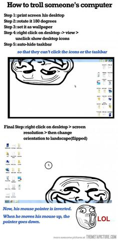 How to troll someone's computer
