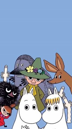 Do you know the Moomin characters? I stumbled on these books by Swedish author Tove Jansson one summer when I was young and have loved them ever since! Moomin Wallpaper, Disney Wallpaper, Iphone Wallpaper, Happy Wallpaper, Screen Wallpaper, Les Moomins, Moomin Valley, Tove Jansson, Wow Art